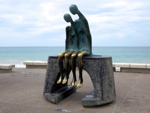 Ramiz Barquet's 1984 bronze statue Nostalgia is a feature of the Malecon at Puerto Vallarta, Mexico.